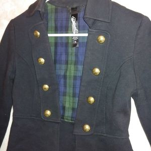 Coat with military buttons. Size 0 priorities